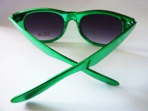Sonnenbrille Wayfarer Brille grün metallic Hipster Look