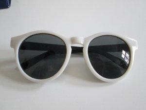 Sonnenbrille weiß/schwarz neu