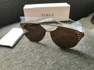 Furla Oval Sunglasses bronze-colored-camel