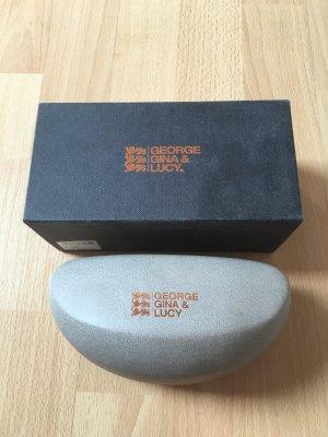Sonnenbrillenetui Sonnenbrille Etui grau Bronze George Gina Lucy GGL Verpackung