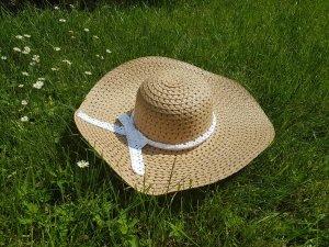 Chapeau de soleil blanc-brun sable