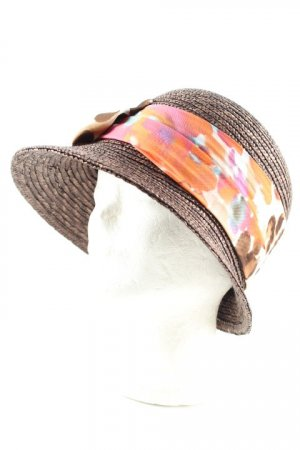 Sun Hat floral pattern beach look