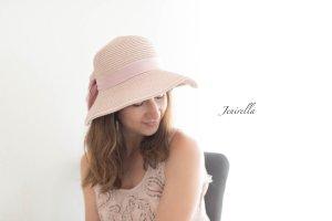 Sonnenhut Hut mit Krempe & Schleife rosa