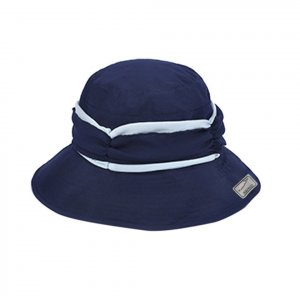 Sun Hat dark blue-white cotton