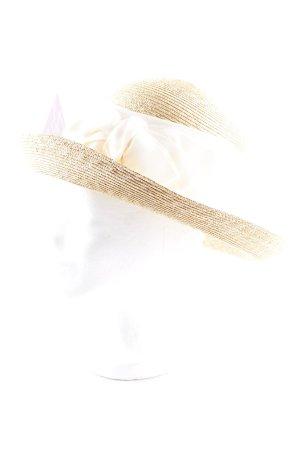Chapeau de soleil brun sable-crème Look de plage