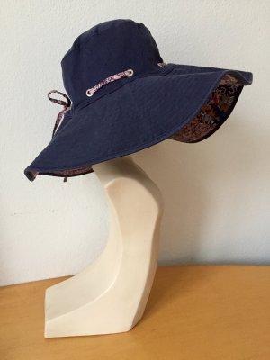 Esprit Chapeau de soleil bleu foncé-rosé coton