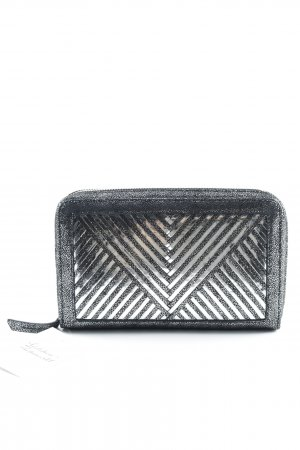 Sony x Lili Radu Clutch zilver-zwart Metalen look