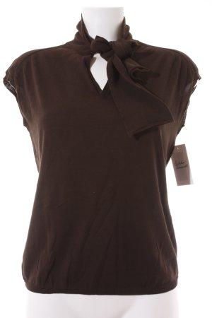 Sophie d'Hoore Short Sleeve Sweater dark brown classic style