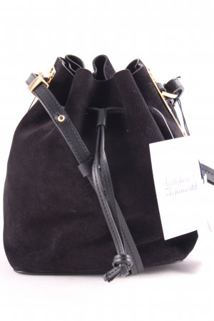 "Sophie hulme Pouch Bag ""Small Nelson Suede & Calfskin Bucket Bag Black"""