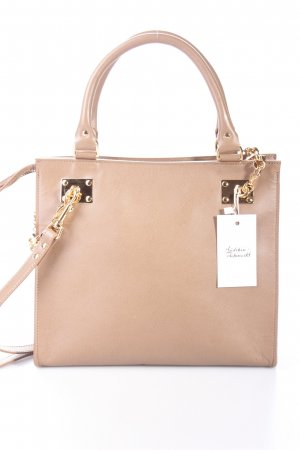 Sophie Hulme Chain Side Shopper Crosshatch Henkeltasche dunkelbeige