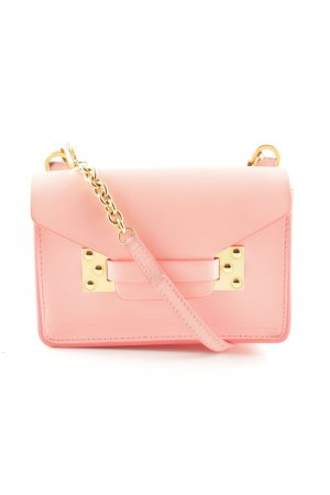 "Sophie hulme Minitasche ""Nano Milner Envelope Bag Saddle Leather Bright Pink"""