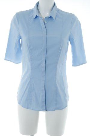 Sophie Shirt met korte mouwen azuur zakelijke stijl
