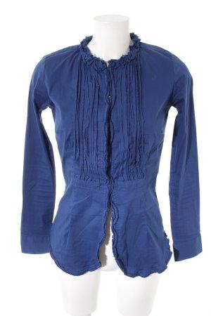 Sophie Camisa de manga larga azul acero estilo clásico