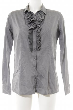 Sophie Ruche blouse grijs-donkergrijs gestreept patroon zakelijke stijl
