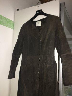 Mango Leather Jacket bordeaux suede