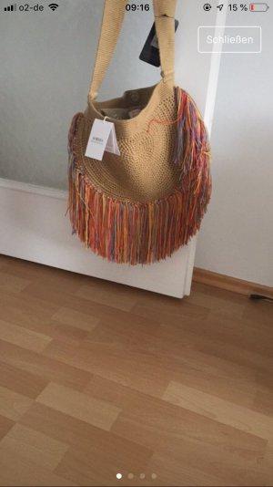 Fringed Bag camel