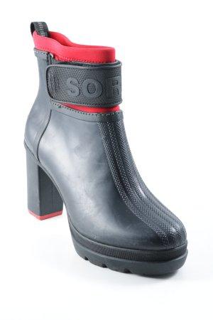 Sorel Gummistiefel schwarz-rot Casual-Look