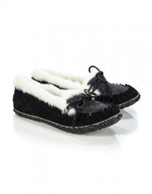 Sorel House Boots white-black leather