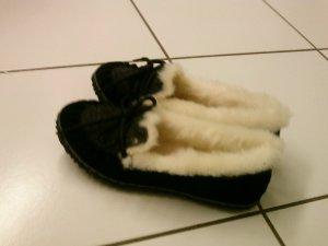 Sorel Pantoufles noir-gris foncé cuir