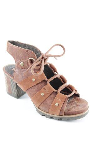 Sorel High Heel Sandaletten cognac Boho-Look