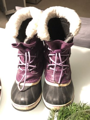 SOREL Winter Boots Ski Snow Boots lila schwarz