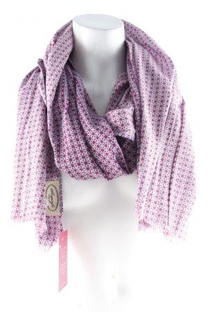 Sorgenfri Sylt Halstuch weiß-pink abstraktes Muster Casual-Look