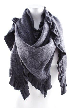 Sorgenfri Sylt Écharpe ronde gris-noir motif abstrait style mode des rues