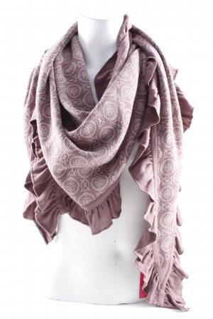 Sorgenfri Sylt Snood grijs-lila-mauve abstract patroon straat-mode uitstraling