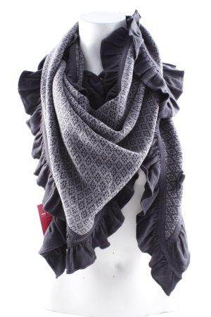 Sorgenfri Sylt Écharpe ronde noir-gris motif abstrait style mode des rues