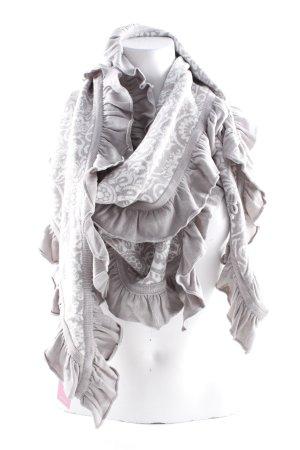 Sorgenfri Sylt Écharpe ronde blanc cassé-gris clair motif floral
