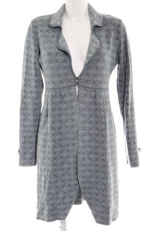 Sorgenfri Sylt Gebreide jas lichtblauw-leigrijs abstract patroon