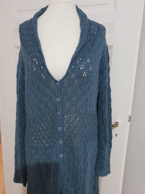 Sorgenfri Sylt Knitted Coat slate-gray linen