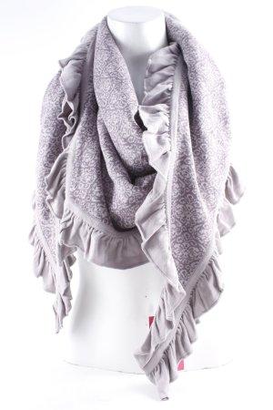 Sorgenfri Sylt Écharpe en tricot mauve-vieux rose imprimé abstrait style Boho