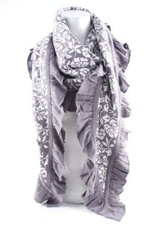 Sorgenfri Sylt Écharpe en tricot mauve-blanc cassé imprimé abstrait