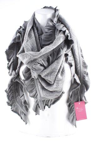 Sorgenfri Sylt Écharpe en tricot gris brun-crème imprimé abstrait style Boho