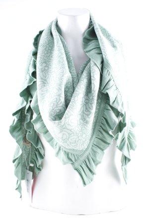 Sorgenfri Sylt Écharpe en tricot vert clair-blanc imprimé abstrait style Boho