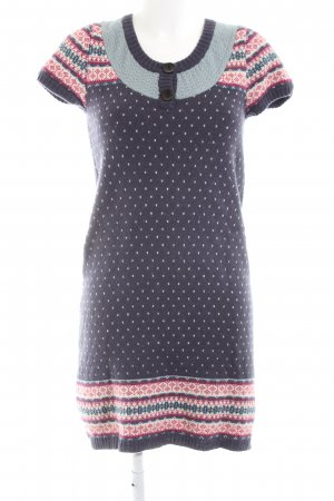 Sorgenfri Sylt Woolen Dress abstract pattern casual look