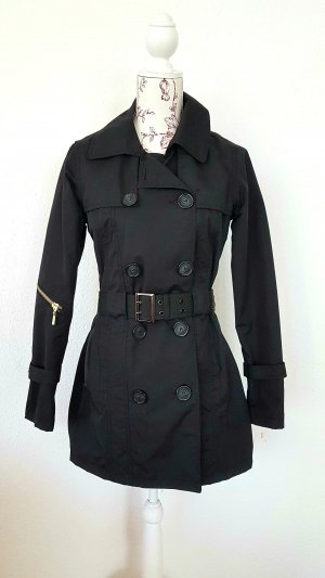 SOS Jensen Heavy Raincoat black-silver-colored