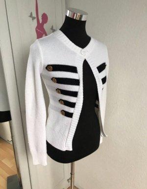 Soul. Chaqueta de lana blanco-negro