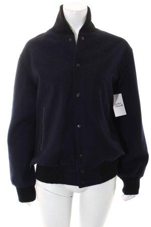 Soulland Blouson universitaire noir-bleu foncé style athlétique