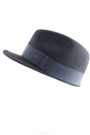 Soulland Casquette plate noir-bleu foncé style classique