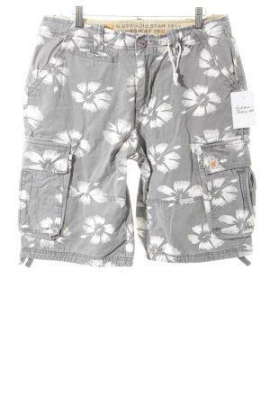 soulstar Shorts hellgrau-grau florales Muster Beach-Look