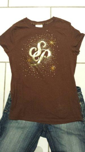 Southpole T-shirt goud-bruin