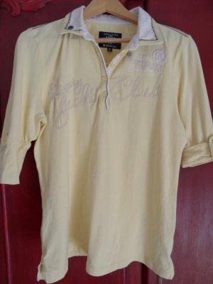 Soccx Polo giallo pallido-bianco Tessuto misto