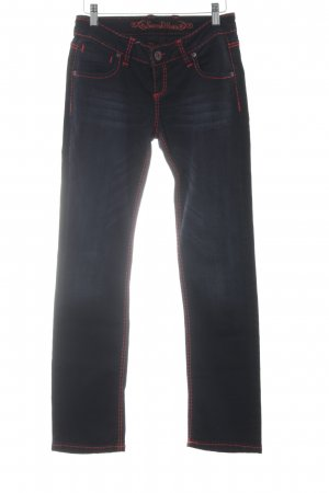 Soxxc Straight Leg Jeans black-red casual look