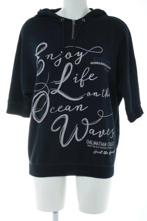 Soxxc Sweatshirt schwarz-weiß Schriftzug gedruckt Casual-Look