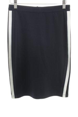 Soyaconcept Bleistiftrock dunkelblau-weiß Streifenmuster Casual-Look