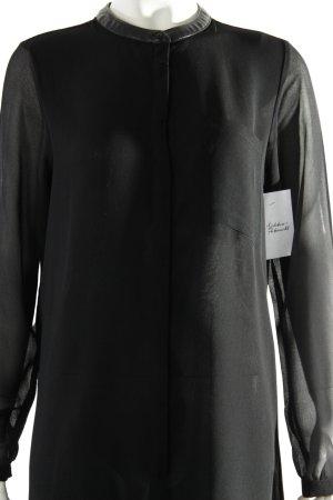 Soyaconcept Blusenkleid schwarz Transparenz-Optik