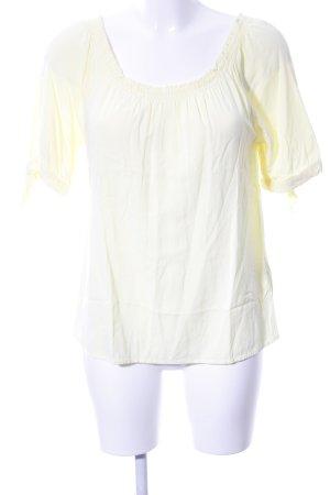 Soyaconcept Blusa tipo Carmen amarillo pálido look casual