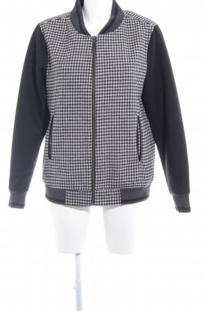 Soyaconcept College Jacket white-black houndstooth pattern college style